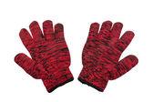 手袋のストライプ赤組 — ストック写真