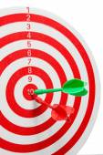 Two dart hitting a target, — Stock Photo