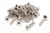 Screw and bolt heads — Stock Photo