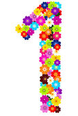 1, number flowers — Stock Photo