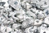 Steel U-Bolts & nuts — Foto Stock