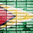 Grunge Guyana flag — Stock Photo #59131337
