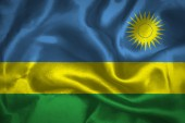 Rwanda waving flag — Stock Photo