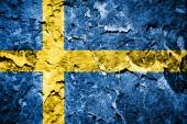 Sweden flag on grunge wall — Stock Photo