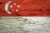 Bandera de singapur — Stockfoto
