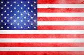 USA flag on grunge paper — Stock Photo