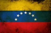 Venezuela flag on vintage paper — Stock Photo