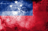 Grungy Samoa Flag — Stock Photo
