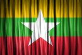 Myanmar flag — Stock Photo