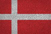 Bandeira da dinamarca — Fotografia Stock