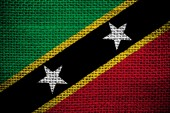 Saint Kitts and Nevis flag — Stock Photo