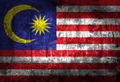 Grunge of Malaysia flag — Stock Photo