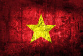 Grunge of Vietnam Flag — Stock Photo