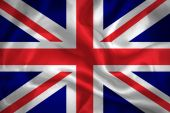 United Kingdom waving flag — Stock Photo