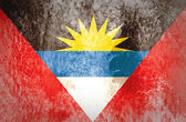 Grunge Antigua and Barbuda Flag — Stock Photo