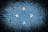 グランジ ミクロネシア連邦の国旗 — ストック写真