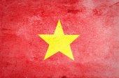 Grunge of Vietnam Flag — Stock Photo