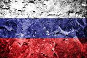 Russia flag on concrete wall — Stock Photo