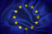 The European Union waving flag — Foto Stock