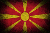 Grunge of Macedonia Flag — Stock Photo