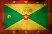 Grunge Grenada Flag on vintage paper — Stock Photo