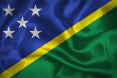 Solomon islands waving flag — Stock Photo