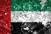 United Arab Emirates flag painted on grunge wall — Stock Photo