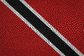 Trinidad and Tobago waving flag — Stock Photo