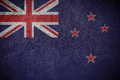 New Zealand Flag painted on leather texture — Stock Photo