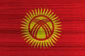 Kyrgyzstan Flag — Stock Photo