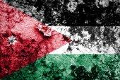 Jordanian flag — Stock Photo
