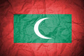 Maldives grunge flag — Stock Photo