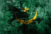 Grunge Mauritania Flag — Stock Photo