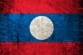 Laos Flag — Stock Photo