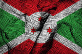 Burundi flag — Stock Photo