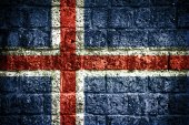 Iceland flag — Stock Photo