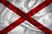Alabama waving flag — Stock Photo