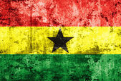 Ghana flag on old paper — Stock Photo