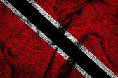 флаг тринидада и тобаго — Стоковое фото