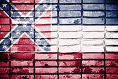 Mississippi State Flag — Stock Photo