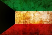 Kuwait Flag — Stock Photo