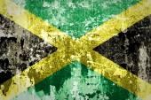 Jamaica flag on steel wall — Stock Photo