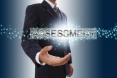 Businessman hand showing assessment . — Stock Photo