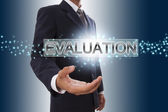 Businessman hand showing evaluation. — Stock Photo