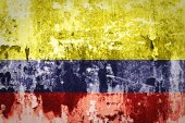 Grunge of Columbia Flag — Stock Photo
