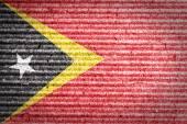 East Timor Flag on cardboard box — Stock Photo