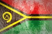 Grunge Vanuatu Flag on vintage paper — Stock Photo