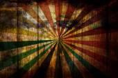 Sunbeam on grunge wood background — Stock Photo