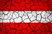 Grunge flag of European country Austria — Stock Photo