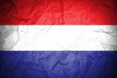 Dutch waving flag — Stock Photo